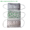 Nonwoven printed face mask